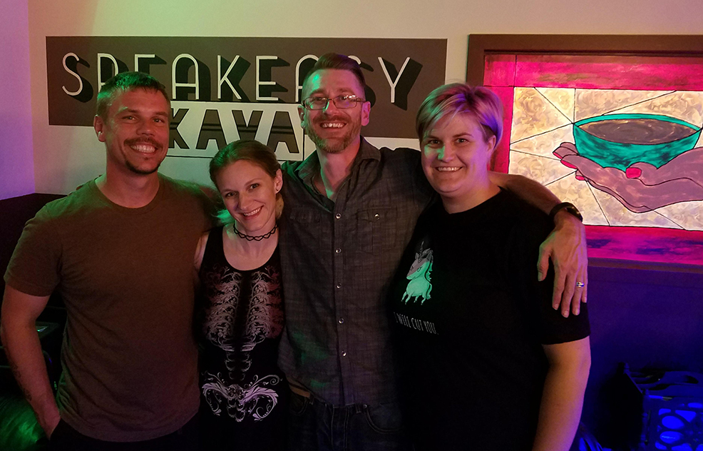 Speakeasy kava bar owners and spouses